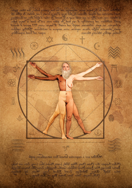 """Leonardo da Vincis """"Vitruvianischer Mensch"""", """" ist ein Symbol für die Ästhetik der Renaissance und das ideale Bild, um die Botschaft von """"weROne"""" zu übermitteln."""
