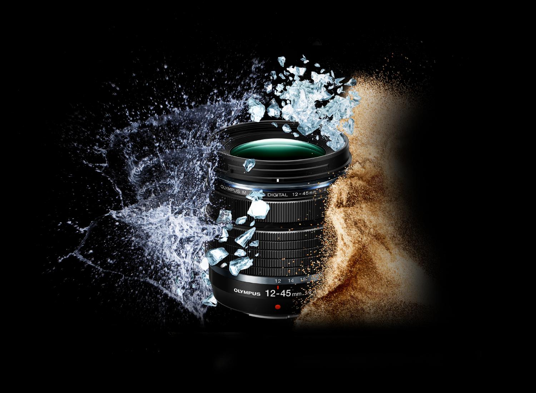 Das neue Zoomobjektiv M.Zuiko Digital ED 12-45 mm F4.0 PRO ist, wie alle Modelle der PRO Serie robust, wetterfest und überzeugt mit einer hohen Abbildungsleistung.