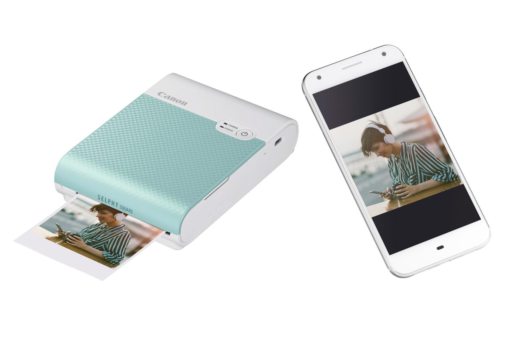Der Canon SELPHY SQUARE QX10 liefert • hochwertige Fotodrucke in nur 43 Sekunden.