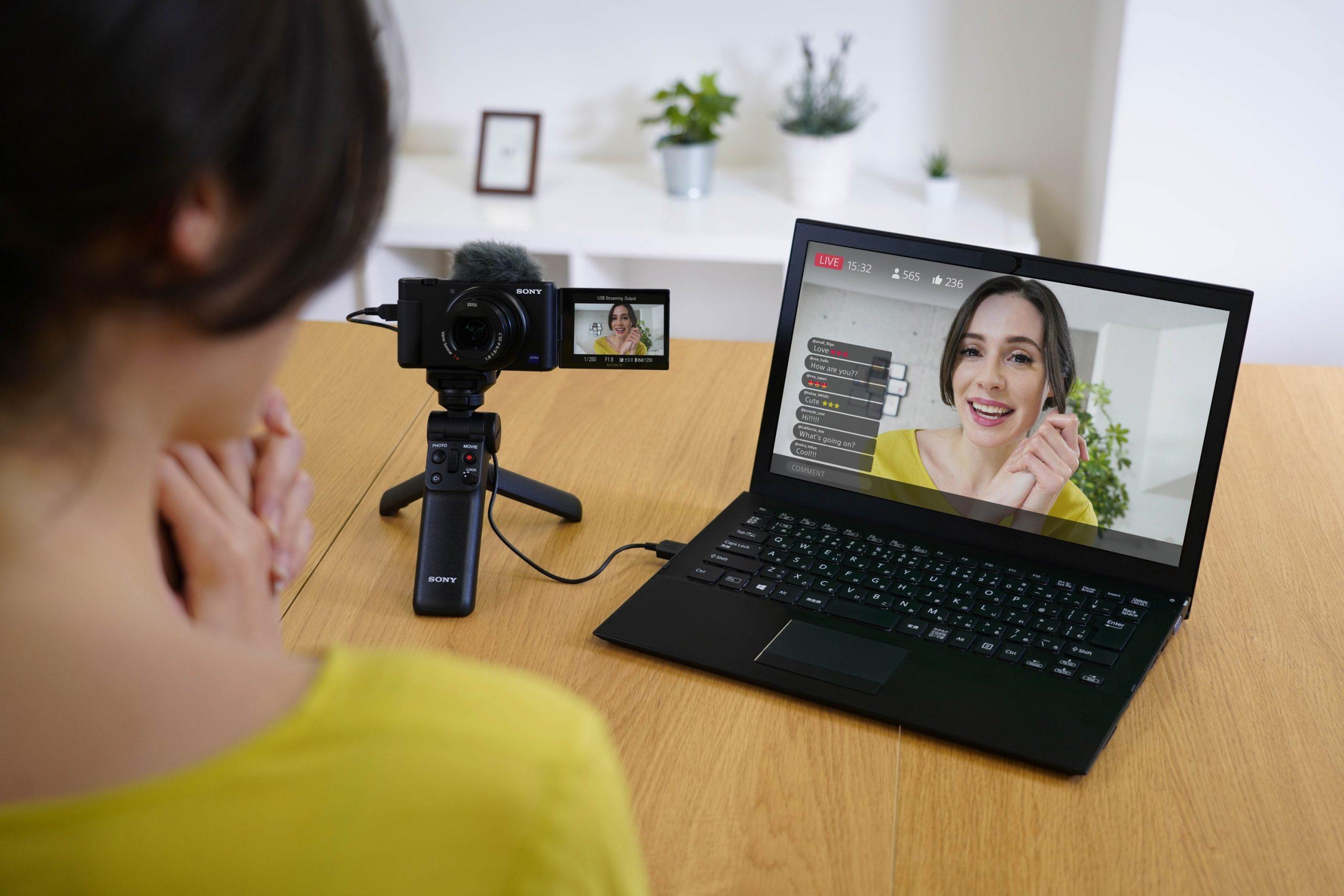 Qualitativ hochwertiges Livestreaming mit der Sony ZV-1 per UVC dank neuem Firmware-Update. (c) Sony