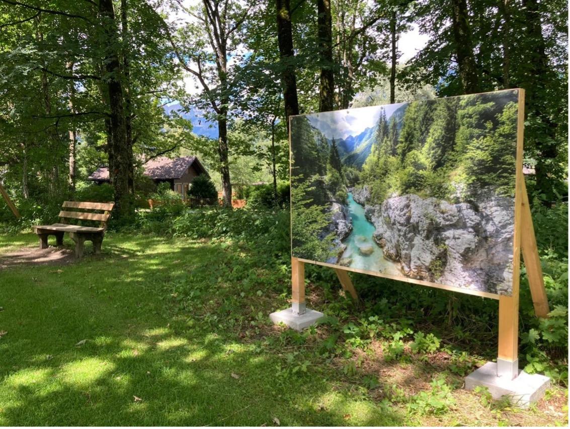 """Freiluft-Fotoausstellung """"Das wilde Herz Europas"""" von Christine Sonvilla und Marc Graf im Nationalpark Gehäuse (c) Martin Hartmann / Nationalpark Gesäuse GmbH"""